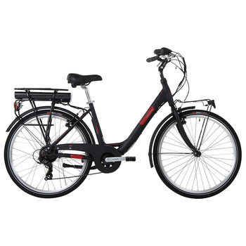 Lombardo  Levanzo City E-Bike in Black/Red