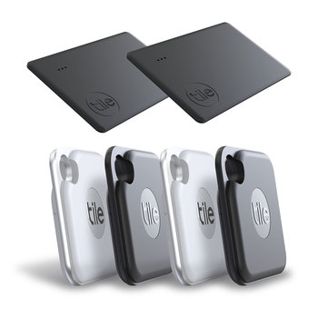Tile Bluetooth Tracker Pro & Slim Combo, 6 Pack (2020)