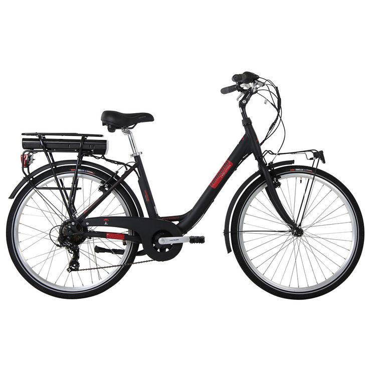 "Lombardo 26"" (66 cm) Levanzo City E-Bike in Black/Red"