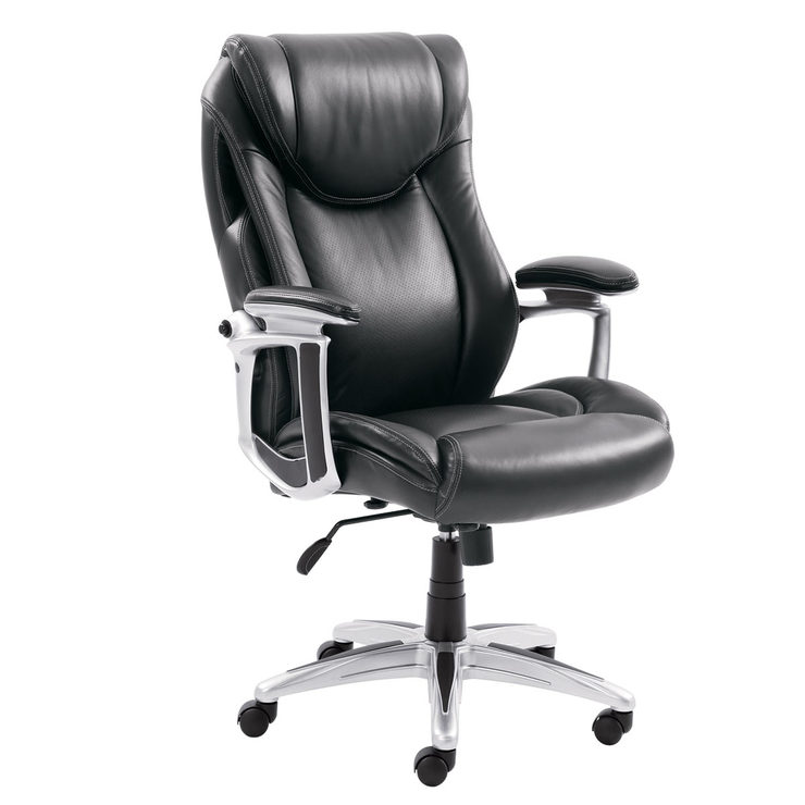 True Innovations Black Leather Executive Office Chair
