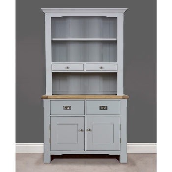 Toulouse Painted Light Grey Wooden Sideboard With Open Shelving