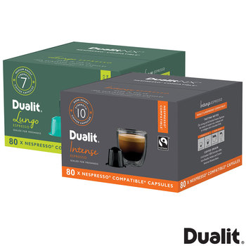 Dualit Nespresso Compatible Coffee Capsules in 2 Flavours, 80 Servings