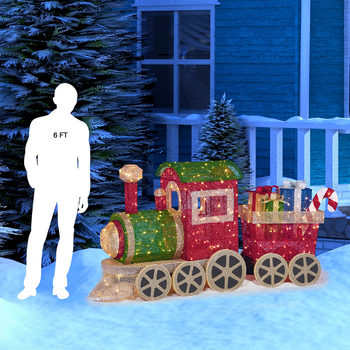 "5ft 8"" (1.7m) Christmas Train With 350 LED Lights"