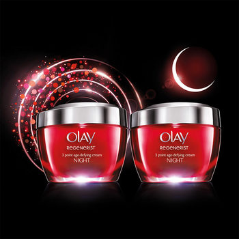 Olay Regenerist 3 Point Night Cream, 2 x 50ml