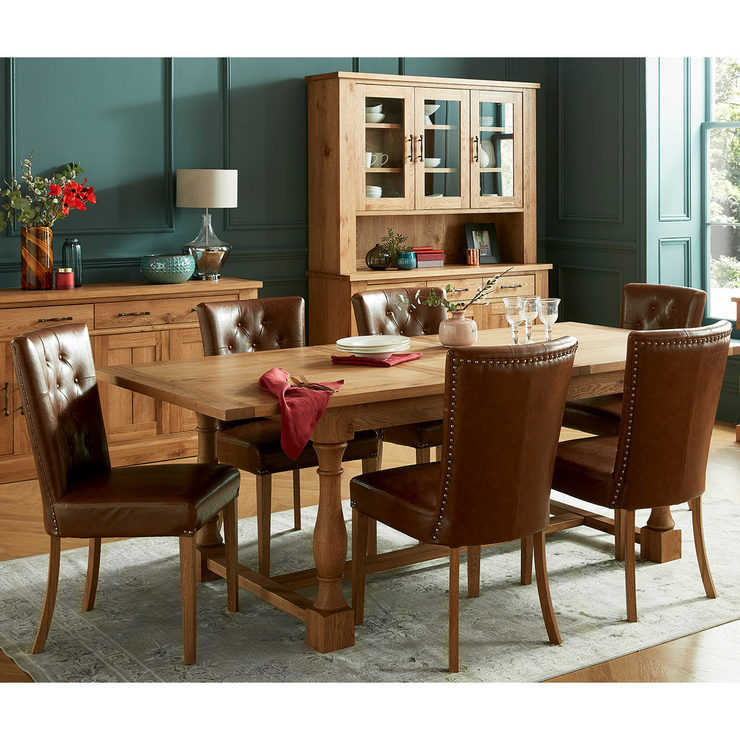 Bentley Designs Westbury Rustic Oak Extending Dining Table