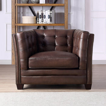 Belmond Brown Leather Armchair