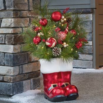 "36"" (91cm) Santa Floral Boot Arrangement"