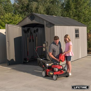 Lifetime 8ft x 12.5ft (2.4 x 3.8m) Simulated Wood Look Storage Shed