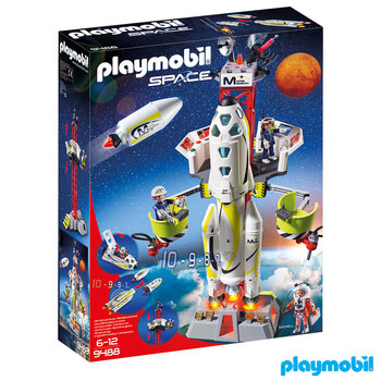 PLAYMOBIL Space Mars Mission Rocket with Launch Site - Model 9488 (6+ Years)