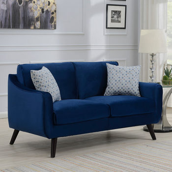 Bainbridge Blue Velvet 2 Seater Sofa