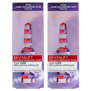 L'Oreal Revitalift Filler 7 Day Ampoules, 2 x 7 Pack