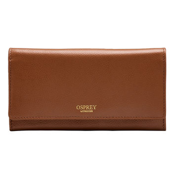 Osprey Nappa Leather Women's Purse, Tan with Gift Box