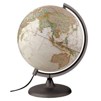 National Geographic 30cm Executive Illuminated Globe in Brown