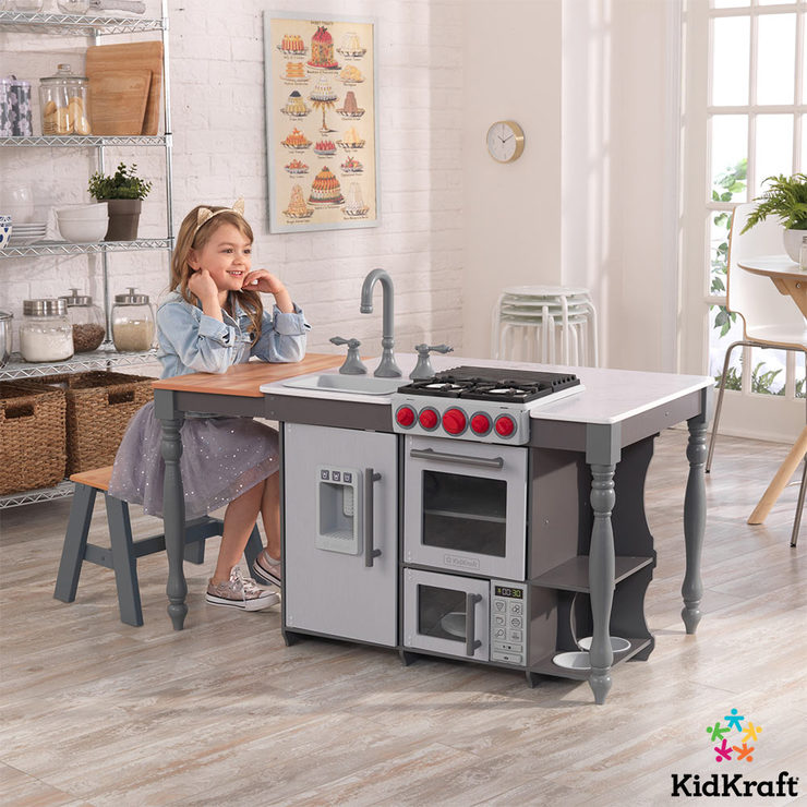 KidKraft Chef's Cook 'N' Create Island Kitchen With EZ
