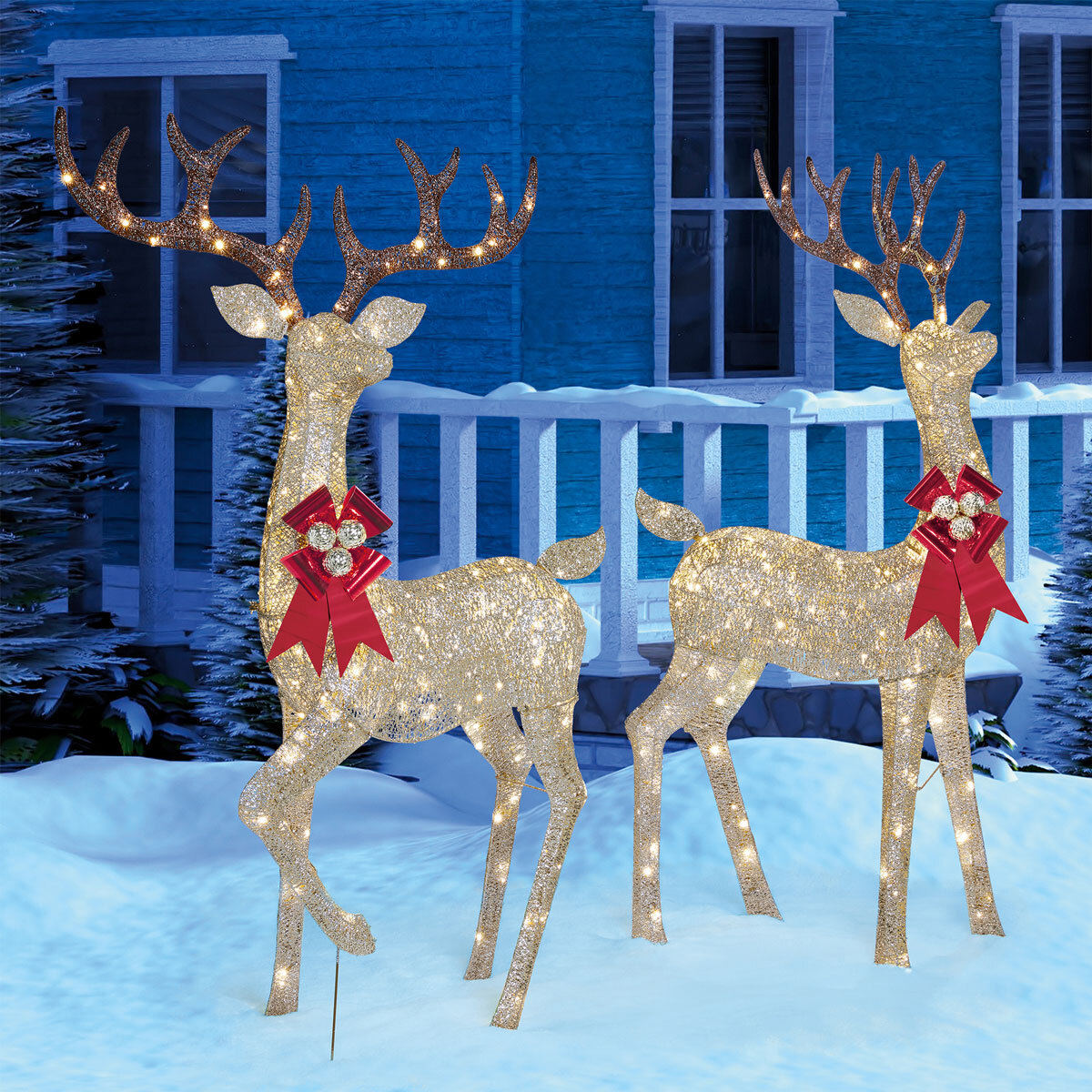 20ft 20 Inches 20.20 cm Indoor/Outdoor Christmas Reindeer Family ...