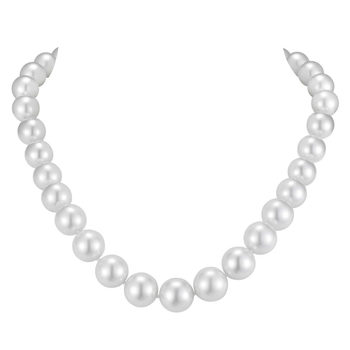 14-16mm South Sea White Pearl Necklace, 18ct Yellow Gold