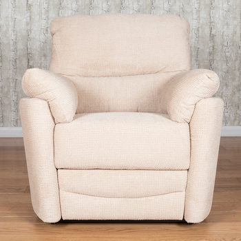Minster Fabric Power Recliner Armchair in Rich Beige