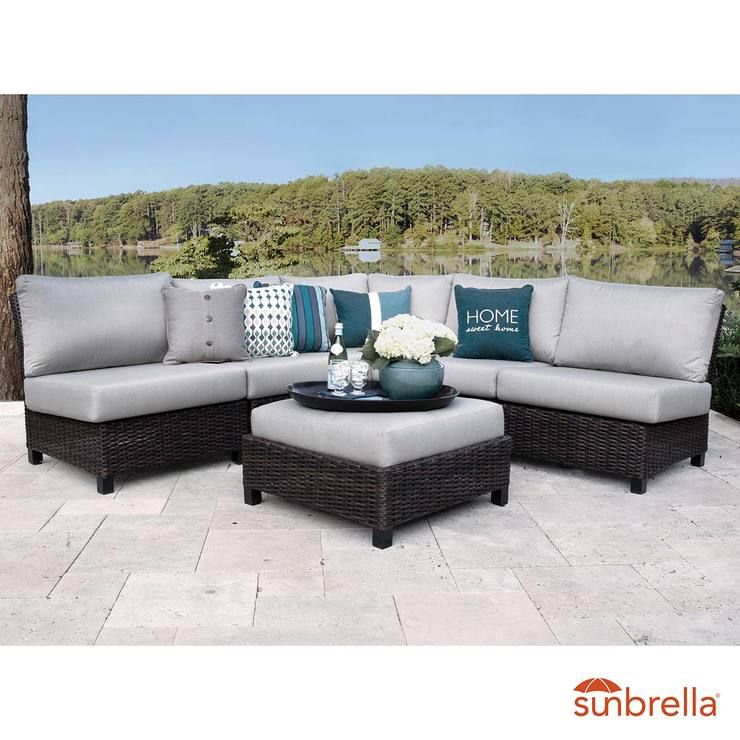 Peak Season Lakeview 6 Piece Sectional Deep Seating Patio Set Costco Uk