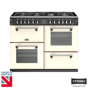 Stoves Richmond S1100DF, 110cm Dual Fuel Range Cooker A Rating in 2 Colours