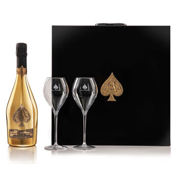 Armand de Brignac Brut Gold N.V 75cl with 2 Glass Flutes