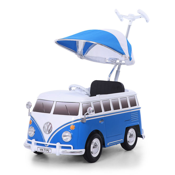 84d3d878ee4774 Rollplay VW Camper Van Children s Push Car - Blue (12+ Months ...
