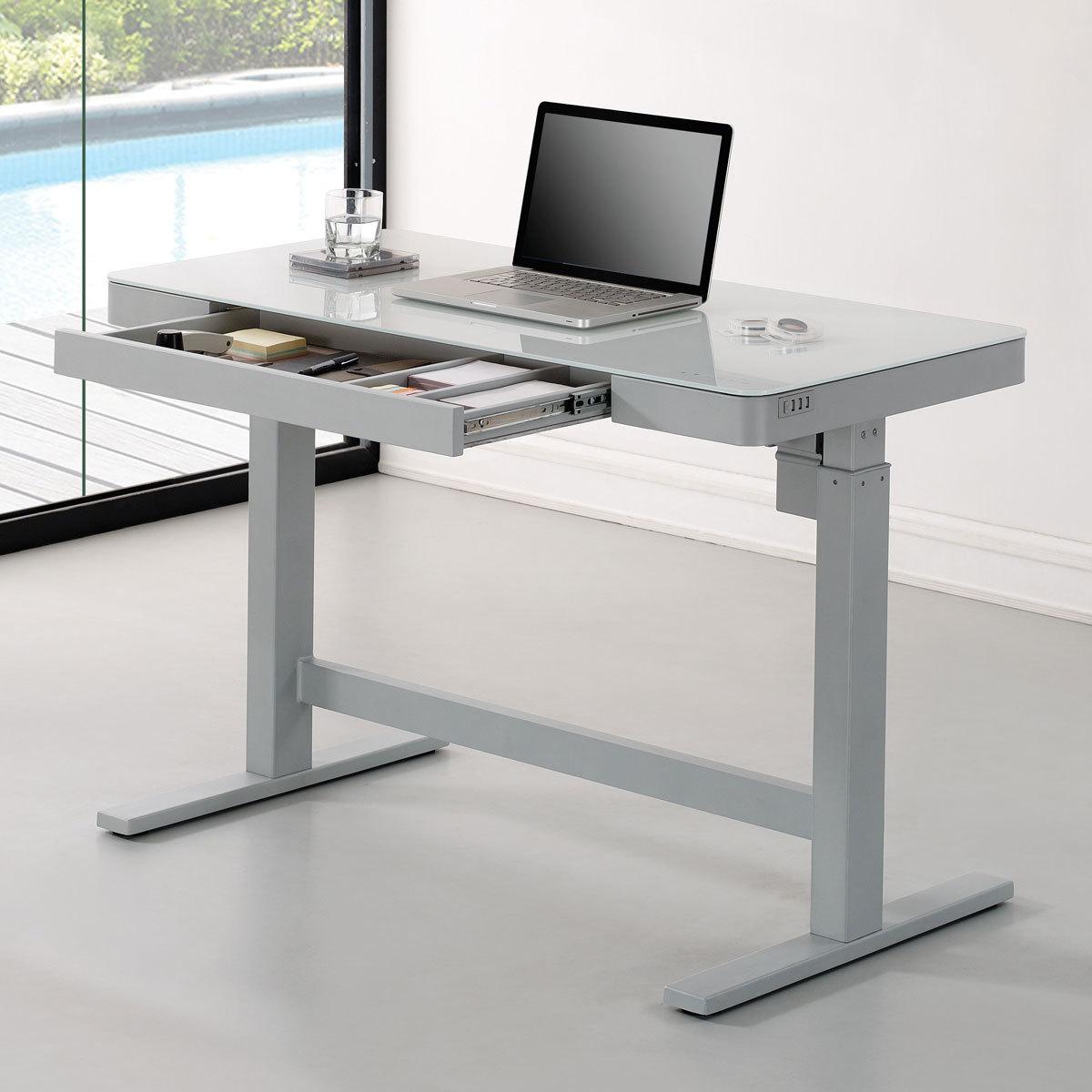 Tresanti Power Adjustable Height White Tech Desk Costco Uk