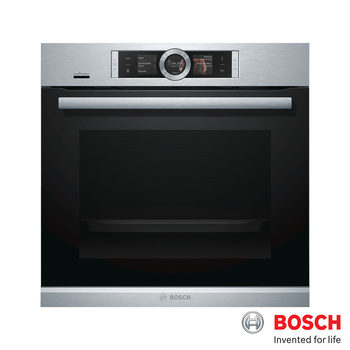 Bosch 71 Litre Built-in Single Oven with Pyrolytic Cleaning, HBG6764S6B in Stainless Steel