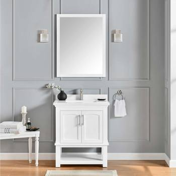OVE Sonia 76 cm Single Vanity Sink in White
