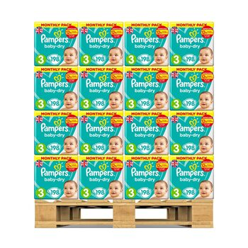 Pampers Baby Dry Nappies Size 3, 36 x Monthly 198 Pack
