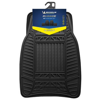 Michelin All Weather Heavy Duty Rubber Car Mat Set of 4
