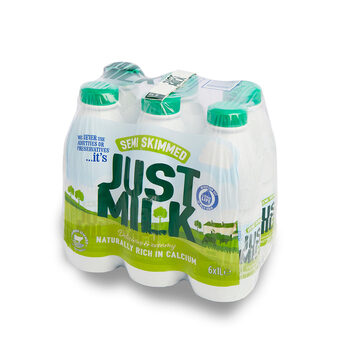 Candia Just Milk UHT Semi-Skimmed Milk, 6 x 1L