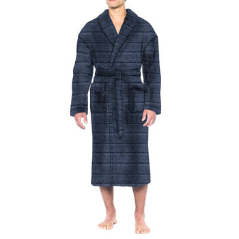 Majestic Men's Plush Fleece Robe in 2 Colours and 2 Sizes