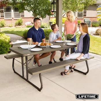 Lifetime 6ft (1.82m) Classic Folding Picnic Table - Pack Of 10
