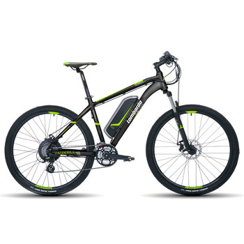 Lombardo Valerdice Mountain E-Bike in Black/Green - in 3 Sizes