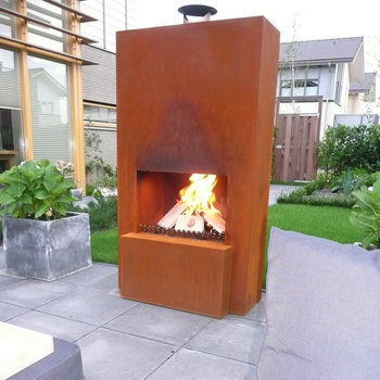 GardenMaxX Pinacate Outdoor Fireplace in 2 Colours