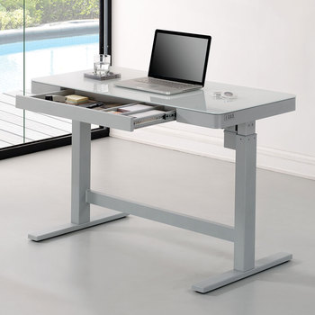 Tresanti Power Adjustable Height White Tech Desk