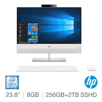 HP Pavilion, Intel Core i5, 8GB RAM, 256GB SSD + 2TB HDD, 23.8 Inch, All in One Desktop PC, 24-XA0026NA
