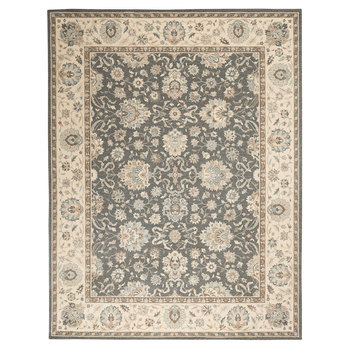 Living Treasures Jasmine Bordered Rug in 2 Sizes