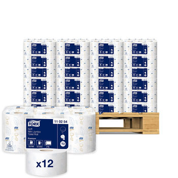 Tork Mini Soft Jumbo Premium Toilet Roll, 12 x 170 m Pallet Deal (25 Units)
