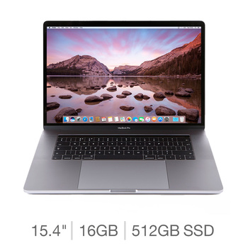 Apple MacBook Pro Retina with Touch Bar, Intel Core i9, 16GB RAM, 512GB SSD, 15.4 Inch Notebook in Silver