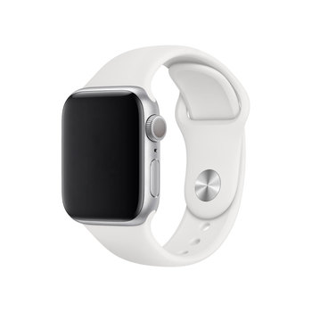 Apple Watch Series 5, MWV62B/A, GPS, 40mm Silver Aluminium Case with White Sports Band