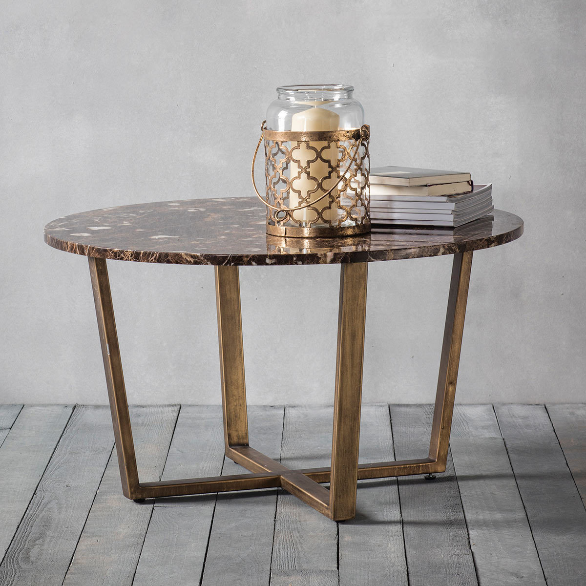 Picture of: Emperor Brown Marble Round Coffee Table Costco Uk