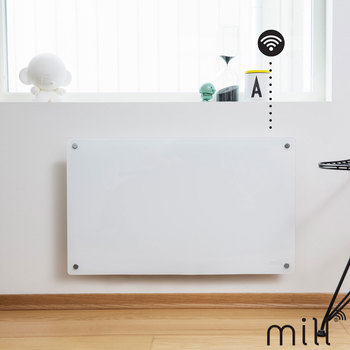 Mill Heat 600W Electric WiFi Controlled Glass Front Panel Heater