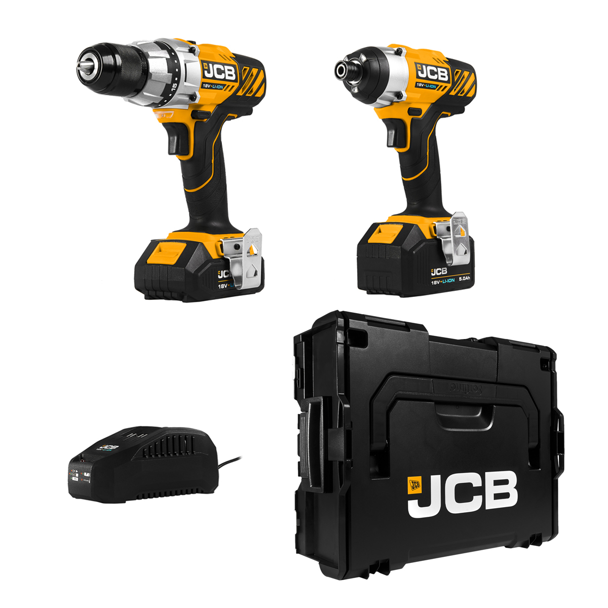 Jcb Cordless Drill And Impact Drill Kit Includes X3 Batteries Costco Uk