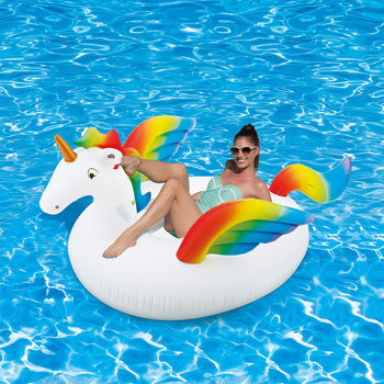 "Summer Waves 7ft 2"" (220cm) Inflatable Giant Unicorn"