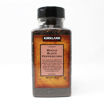 Kirkland Signature Whole Black Peppercorns, 399g