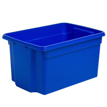 Wham Stack & Store 50 Litre Plastic Storage Box in Blue - 5 Pack