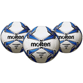 Molten ACENTEC® Vantaggio Bonded Construction PU Leather Match Football (Size 5) - 3 Pack
