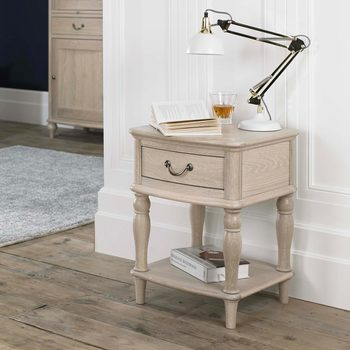Bentley Designs Margaux Chalk Oak Lamp Table