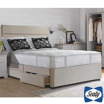 Sealy 1000 Deluxe Pocket Memory Mattress & Divan in Fawn in 4 Sizes
